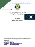 Treasury Dept. Ig Report-Public Doc