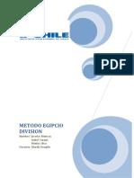 METODO EGIPCIO DIVISION