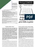 Revista Passatempos Missionários #6 - A importância da Tradução da Bíblia