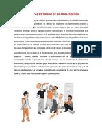 CONDUCTAS DE RIESGO DE LA ADOLESCENCIA