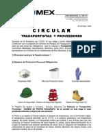 CIRCULAR REGLAS  INGRESO PARA TRANSPORTES POR COVID 19(R2).pdf