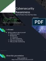 Public - Cybersecurity awareness presentation