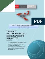 TEORIA Y METODOLOGIA DEL ENTRENAMIENTO DEPORTIVO - SEMANA 3 - G10