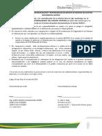 ACTA DE RESPONSABILIDAD Y CONFIDENCIALIDAD QUIPUX ENTREGA DOCUMENTOS
