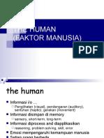 THE HUMAN (FAKTOR MANUSIA).ppt