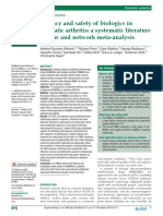 Efficacy and Safety of Biologics in Psoriatic Arthritis- A Systematic Literature Review and Network Meta-Analysis 2020