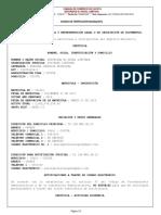 Camara Cio Cucuta certificado de existencia