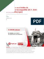 Negociación Incompatible -R.N. 2641-2011 Lambayeque Usar