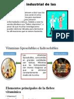 Aplicación industrial de las vitaminas.