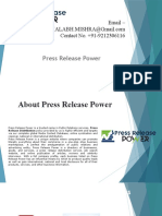 Latest Press Release Distribution Service
