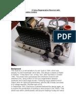 6 Valve Regenerative Receiver with Automatic Regeneration Control