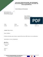 carta e fax de DCCC