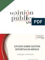 ESTUDIO SOBRE GESTIÓN DEPORTIVA EN MÉXICO