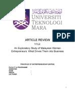 Article review ent530