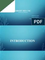 DROIT DES TIC Cours Et Conf INPTIC Présentation .Docx