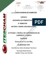 MODELO DE CONTINGENCIAS DE LAWRENCE Y LORSCH