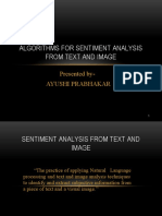 SENTIMENT ANALYSIS from text and image