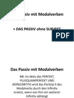 BA2 Passiv it Modalverben - de prelucrat informatia DONE