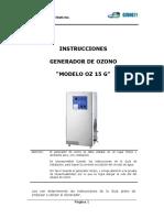 Manual de Instrucciones OZ15G