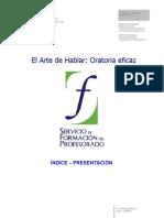 01 El Arte de Hablar, Oratoria Eficaz. Indice. Presentacion