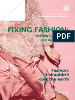 Sustainability of the Fashion Industry
