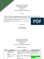 000 BIOLOGIA II  SECCION A CRONOGRAMA DE ACTIVIDADES TERCER PARCIAL COVID19