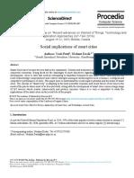Social implications of smart cities