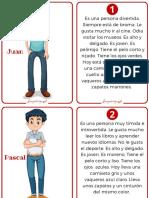 descripciones de personas (separar descripciones de dibujos y unir)