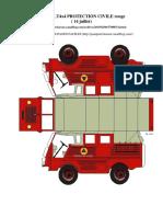 J66 RENAULT4x4 PROTECTION CIVILE rouge