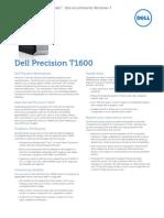 Precision t1600 Spec Sheet