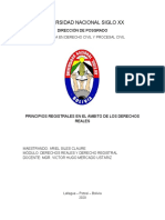 PRINCIPIOS REGISTRALES DE LOS DERECHOS REALES