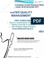 Indian Water Academy -IDC- Water Quality-Prof. Adin