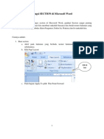Fungsi SECTION Di Microsoft Word