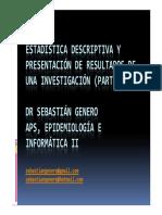 Medidas de Resumen (Dr Genero)