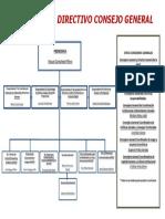 Organigrama del Consejo General 2019 -grafico