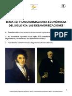 10 Transformaciones económicas del siglo XIX las desamortizaciones
