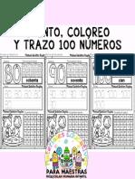 Cuento, coloreo y trazo 100 números por Materiales Educativos Maestras