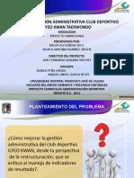 SUSTENTACION DE TESIS DE GRADO. CLUB DEPORTIVO ILYEO-KWAN 1 UNO