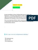Questionnaire Bmce Bank Partie Entreprise