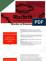 Macbeth, Murder at Dunsinane