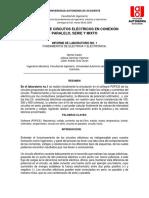 Informe de laboratorio No.1 y 2