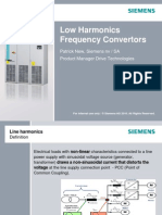 Siemens Low Harmonics Frequency Converters