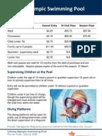 Coburg Olympic Swimming Pool Fees (updated Dec 2010)