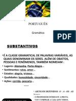 Gramática SUBST ADJETIV ARTIGOS