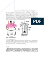 calorimetro teoria