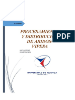 Informe 3 (Planta de tratamientos de árdos VIPESA)