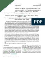OLIVEIRA et al 2020 - propriedades do LED para determinação da constante de Plank