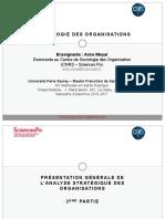 Sociologie des organisations - Séance 2