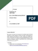 El acto psicoanalitico Clase 8 (traducción RRP)