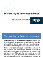Tercera ley termodinamica